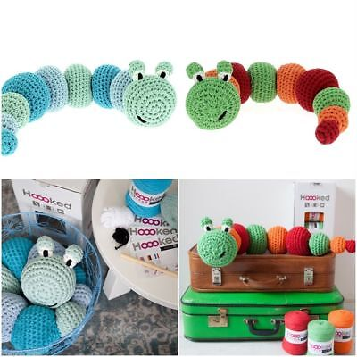 Hoooked DIY Crochet Kit NEW Caterpillars Amigurumi Ribbon XL Recycled Toy Gift