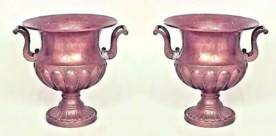 Pair of English Georgian Style Copper Urns