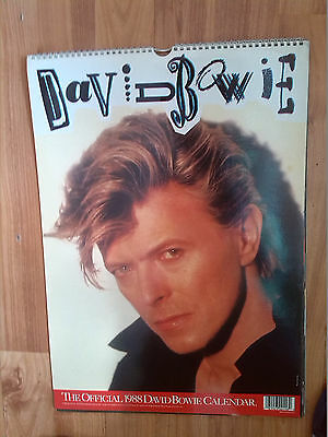 DAVID BOWIE Official Calendar 1988
