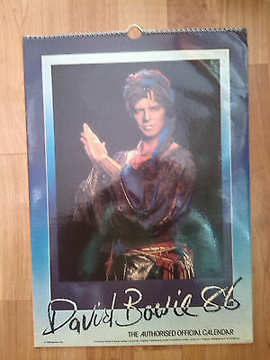 DAVID BOWIE Official Calendar 1986