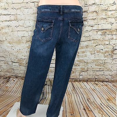 Simply Vera By Vera Wang Jeans Size 12 Straight Leg Stretch Denim Women's