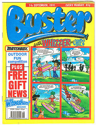 Buster & whizzer & Chips Comic 7th September 1991 NO MISSING PAGES Chalky Toyboy