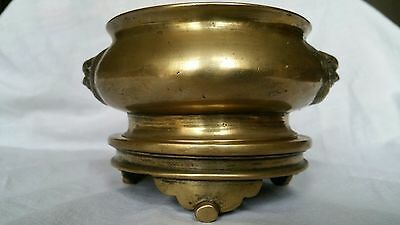 antique chinese bronze incense burner Ming dynasty xuande mark
