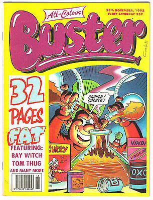 Buster Comic 28th November 1992 NO MISSING PAGES - Chalky Toyboy