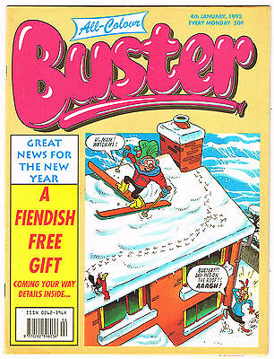 Buster Comic 4th January 1992 NO MISSING PAGES - Chalky Toyboy