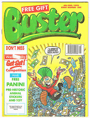 Buster Comic 6th June 1992 NO MISSING PAGES - Chalky Toyboy