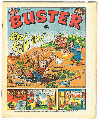 Buster comic 7th February 1976 over 40 years old includes flyer for Action #1