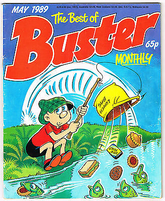 The Best of Buster Comic May 1989 RentaGhost Ivor Lott Chalky Faceache