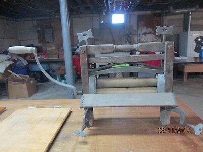 Antique crank clothes wringer from Lovell Manufacturing Co.