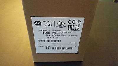 POWERFLEX 525 Cat 25B-D6P0N104 SER A 2.2kW/3.0HP NIB -SEALED!