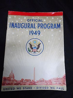 Official Inaugural Program 1949, Harry S Truman(FREE SHIPPING)