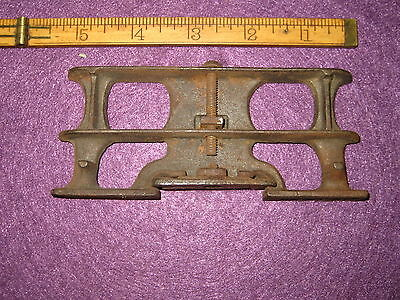 Old Antique Vintage Cast Iron Mystery Part Approx 2 1/4 Inches X 5 1/2 Inches