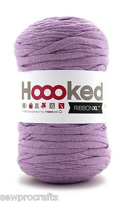 Hoooked Ribbon XL 120M Cotton Crochet Yarn Knitting - Lila Dusk (Lilac) RibbonXL