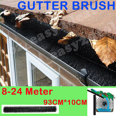 100mm X 8M-24M Hedgehog Gutter Guard Brush Leaf Twigs AU STOCK - LEAF TWIGS
