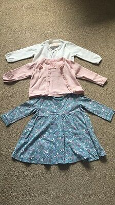 Baby Girls Dress And Cardigan Set, 6-9 Months.