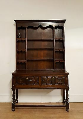1920s Jacobean revival oak dresser