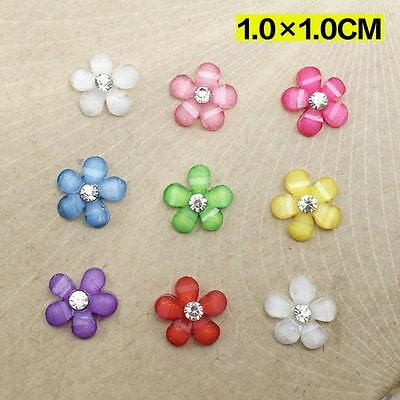 Colorful Crystal Crafts Flatback Scrapbooking Resin Flowers For Phone/wedding
