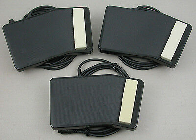 Olympus Pearlcorder T1010 T100 Transcriber RS12 Foot Pedal Switch - Lot of 3