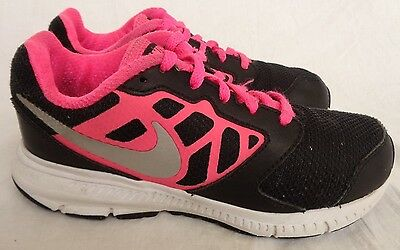 NIKE Girls DOWNSHIFTER 6 Lightweight Athletic Running Shoes-Black/Pink (Size 13)