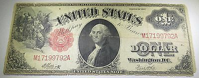 1917 US $1 Red Seal Horse Blanket One Dollar Bill Note Antique Currency Money