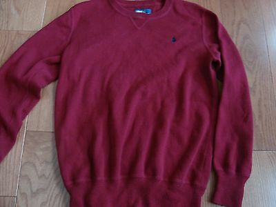 Polo By Ralph Lauren Boys Large(14-16) Red Sweater Gorgeous New Never Worn