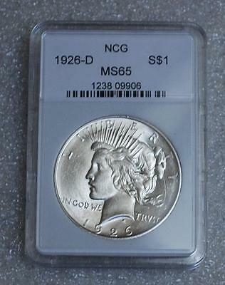 1926-D Peace Silver Dollar Uncirculated Ms/bu Us Coin