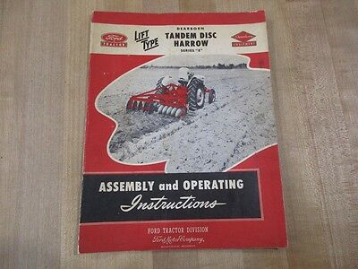 Vintage Ford Tractor Dearborn Equip Tandem Disc Harrow E Owners Manual