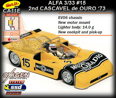 Slot.it CA11E Alfa Romeo 33/3 1973 - suits Scalextric & Carrera slot car track