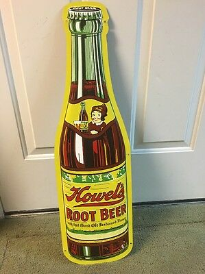 Howels Root Beer Advertising Sign Bottle