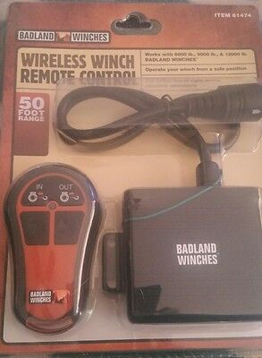 Brand NEW in Package Badland Winches Wireless Winch Remote Control Item 61474