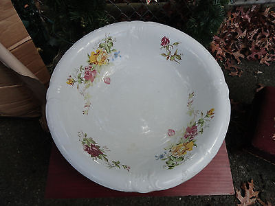 antique wash basin / pitcher and bowl with hand painted Floral design