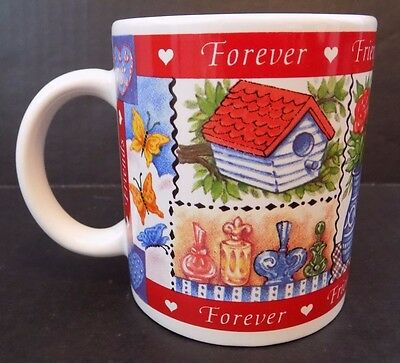 """Avon """"Forever Friends"""" Mug/Cup - 1997 - Butterfly Inside - New In Box"""
