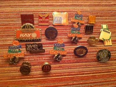 Vintage Lot McDonalds Lapel Pins Metal Collectors Old Toy Happy Meal Set Logo