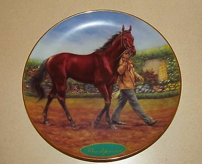 Buckpasser  Danbury Mint Champion Thoroughbred Limited-Edition Plate By . Morton