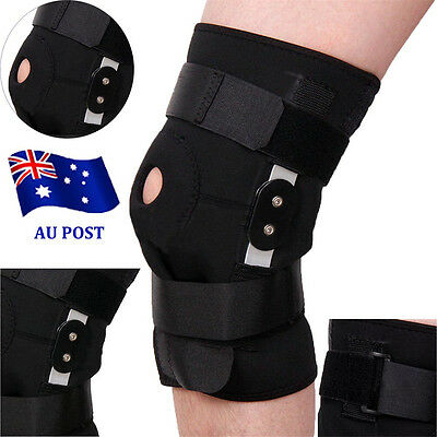 1 Pair Double Hinged Full Knee Support Brace Arthritis Injury Knee Protection EA
