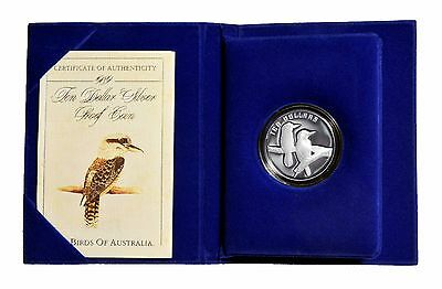 "1989 ""FIRST OF THE NEW SERIES"" Kookaburra $1 Silver Coin with CoA"