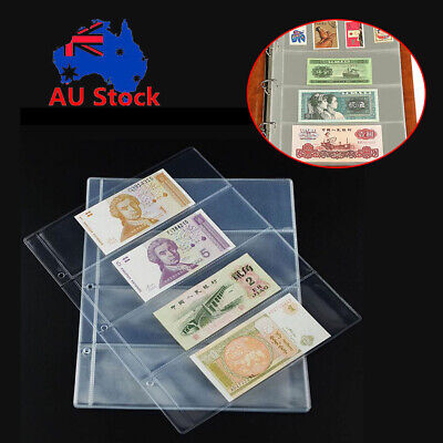 Collectors 4 Pockets Album Holders for Banknotes Collection 10 Sleeves Pages