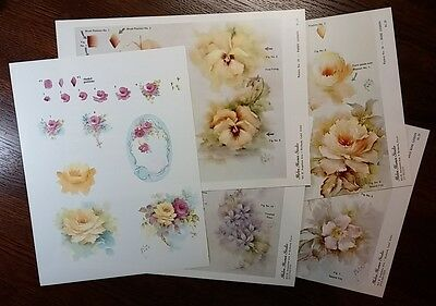 Step-by-Step variety pack of 5 Helen Humes patterns - favorite flowers