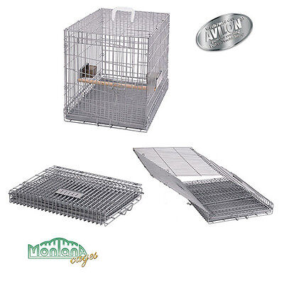 Cage de transport pour perroquets Carry Moi Large - Platinum de Montana Cages