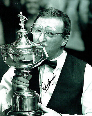 Dennis TAYLOR Signed Autograph Photo AFTAL COA 1985 World Snooker Champion