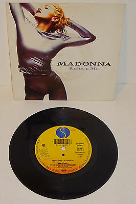 """Madonna Rescue Me 1990 Sire 7"""" Uk Issue, P/s"""