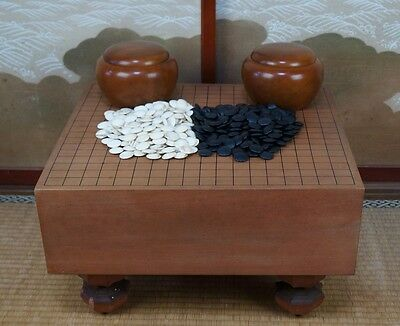 Vintage traditional Japanese Goban thick wood board 1950s Japan Go game