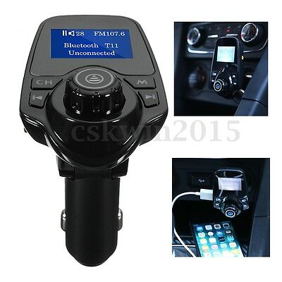 Bluetooth USB MP3 Player FM Transmitter Wireless Radio Car Kit Adapter Charger