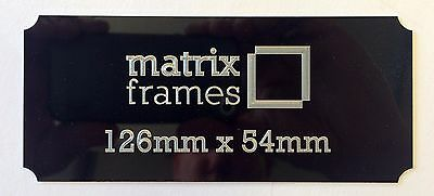 126  x 54 mm Engraved Plaque * Any inscription of your choice * Trophies Frames
