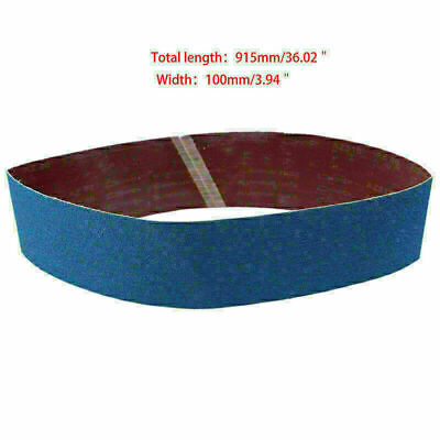 100 x 915mm Blue Industry Abrasive Polish Tools Fine Sanding Sharpening Belts