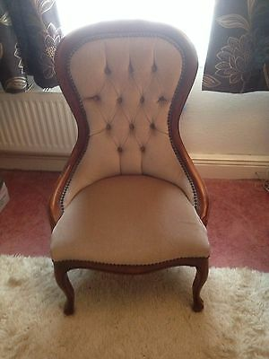 Victorian style, Button back bedroom/nursing chair