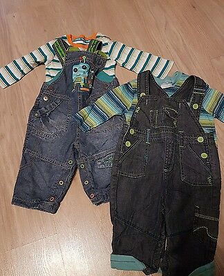 boys dungarees age 3-6 months