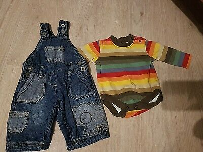 next boys long sleeve dungarees up to 1 month 10lb