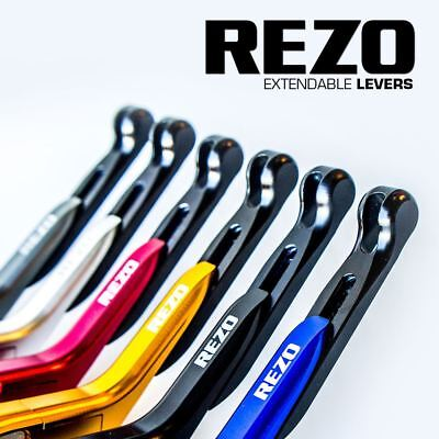 REZO V2 Extendable Blue Adjustable CNC Motorcycle Levers for Yamaha YZF-R1 04-08