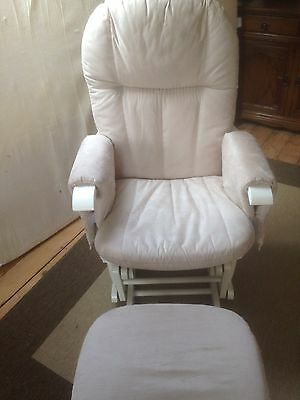 Nursery Glider Chair And Stool  Used